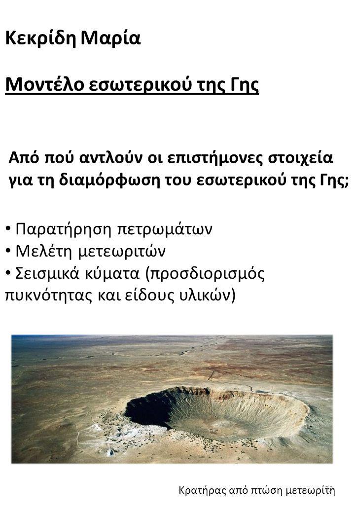 Μοντέλο εσωτερικού της Γης