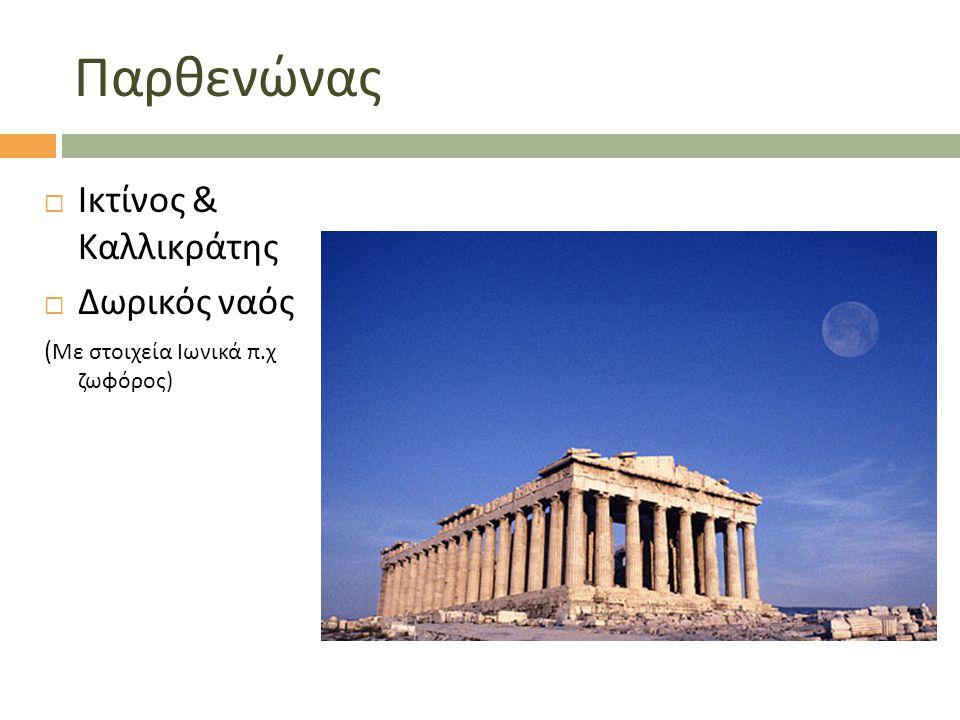 Παρθενώνας Ικτίνος & Καλλικράτης Δωρικός ναός
