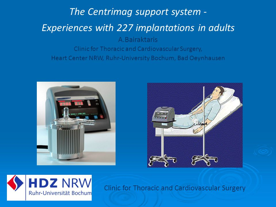 The Centrimag support system -