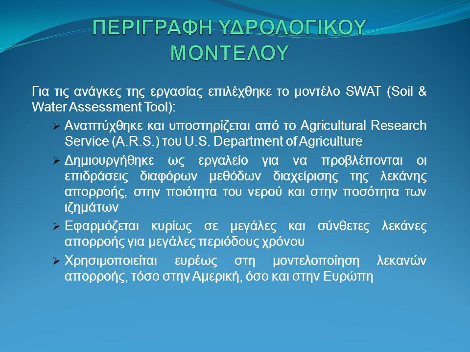 ΠΕΡΙΓΡΑΦΗ ΥΔΡΟΛΟΓΙΚΟΥ ΜΟΝΤΕΛΟΥ