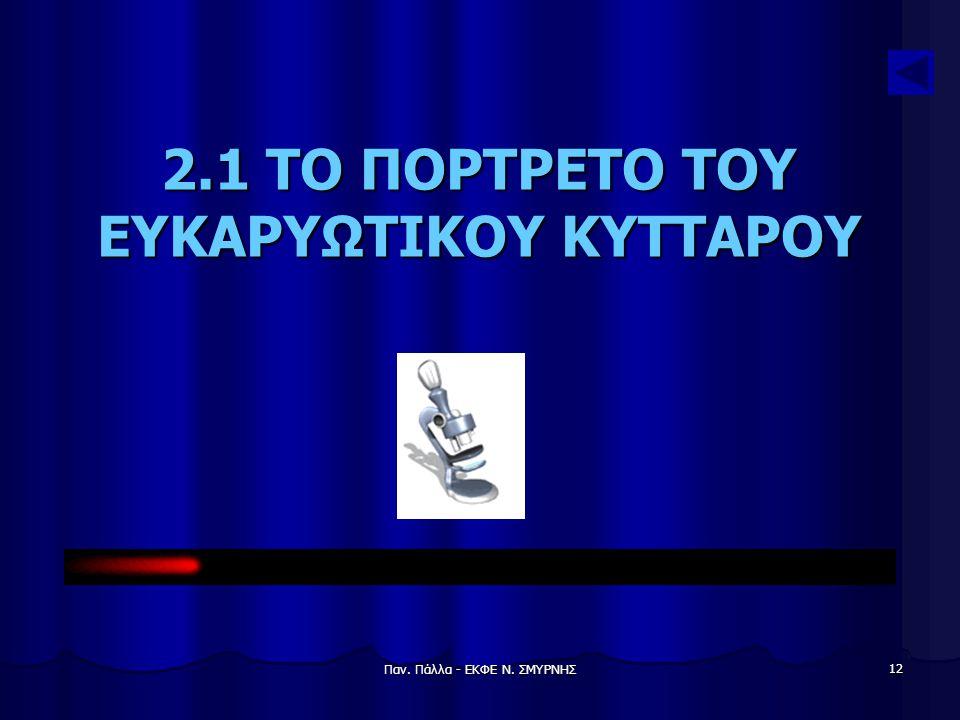 2.1 ΤΟ ΠΟΡΤΡΕΤΟ ΤΟΥ ΕΥΚΑΡΥΩΤΙΚΟΥ ΚΥΤΤΑΡΟΥ