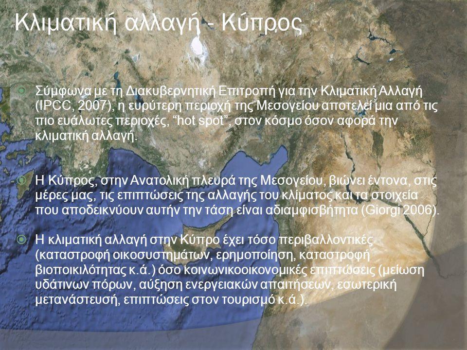 Κλιματική αλλαγή - Κύπρος