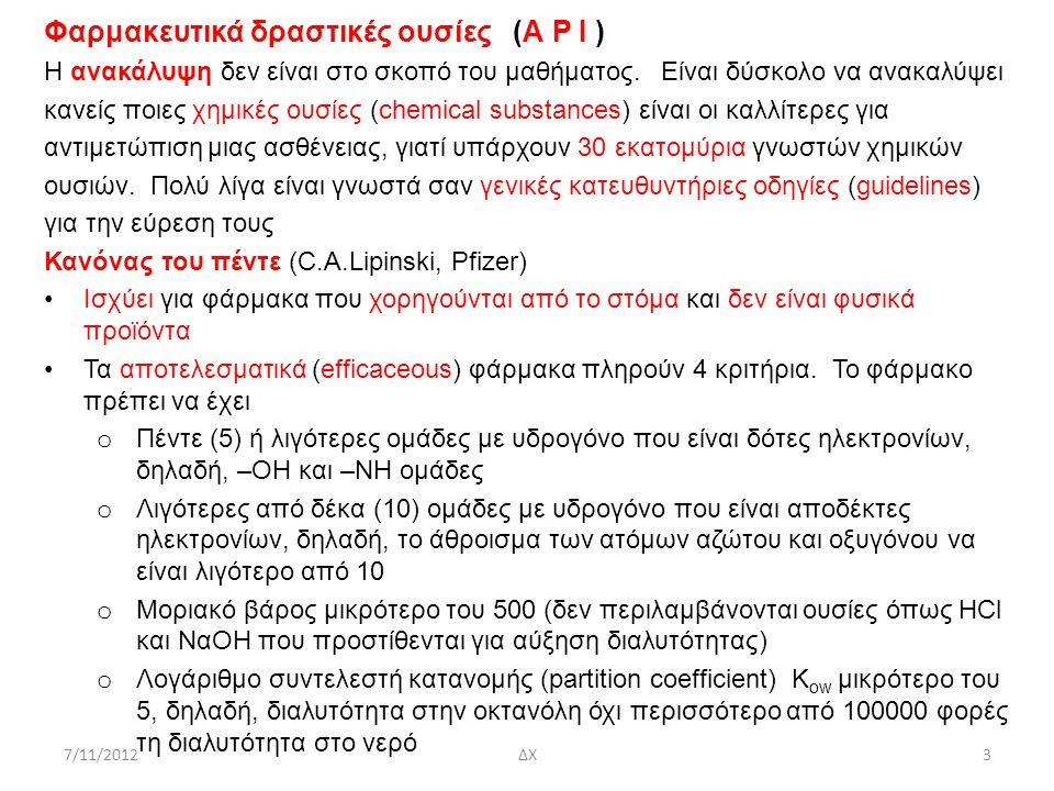 Φαρμακευτικά δραστικές ουσίες (Α P I )