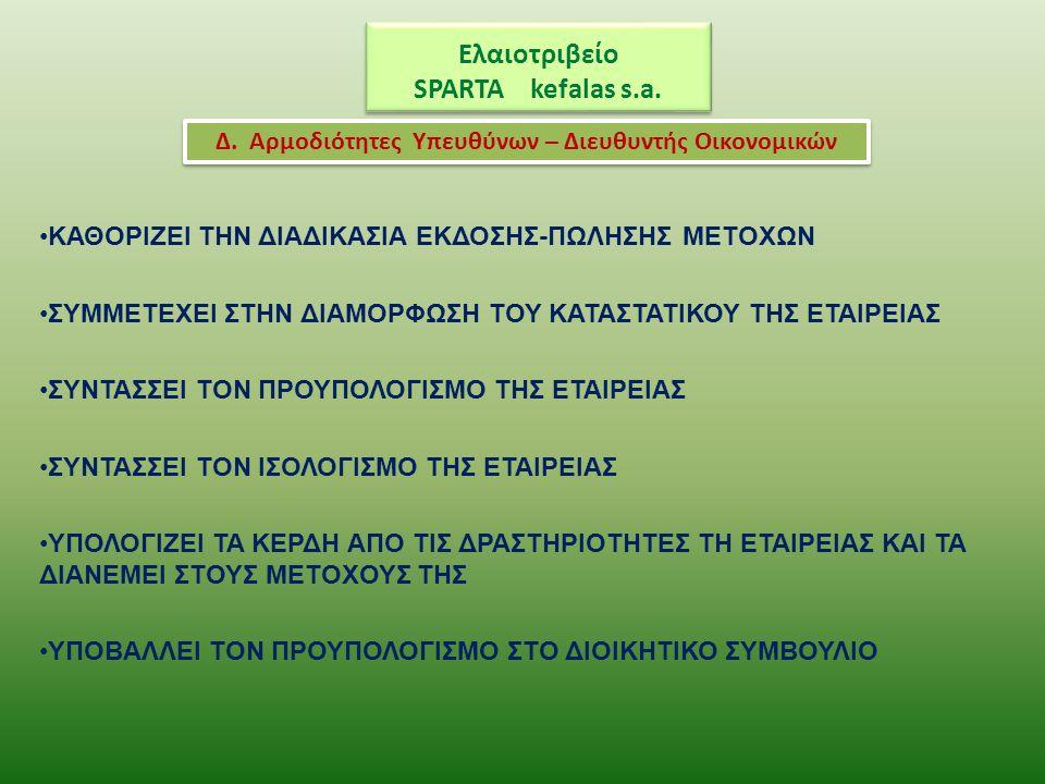 Ελαιοτριβείο SPARTA kefalas s.a.
