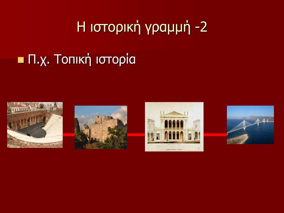 Η ιστορική γραμμή -2 Π.χ. Τοπική ιστορία