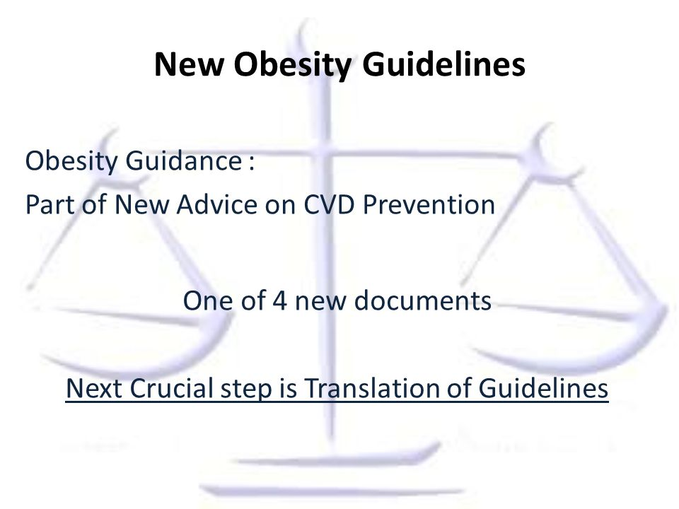 New Obesity Guidelines