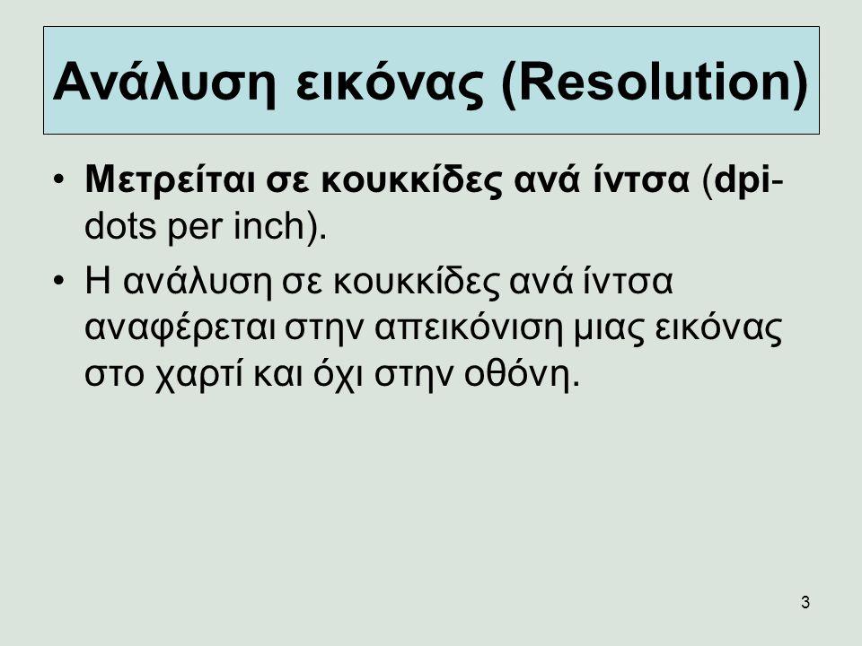 Ανάλυση εικόνας (Resolution)