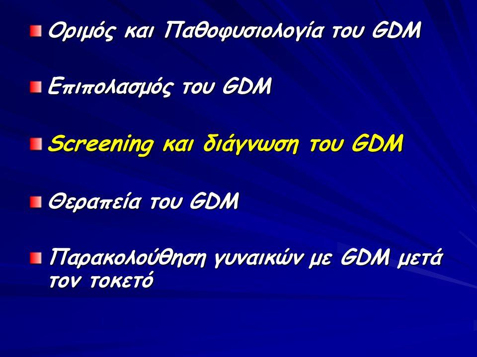 Screening και διάγνωση του GDM