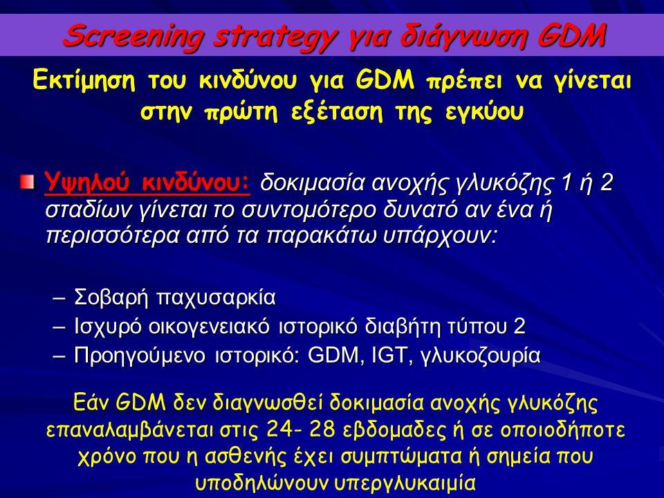 Screening strategy για διάγνωση GDM
