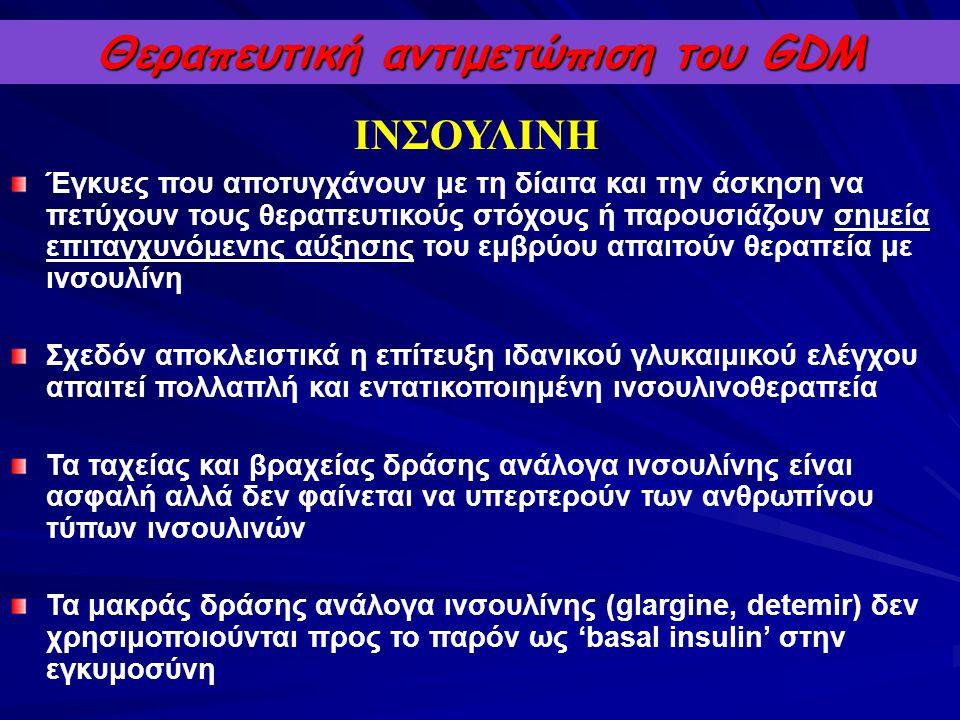 Θεραπευτική αντιμετώπιση του GDM