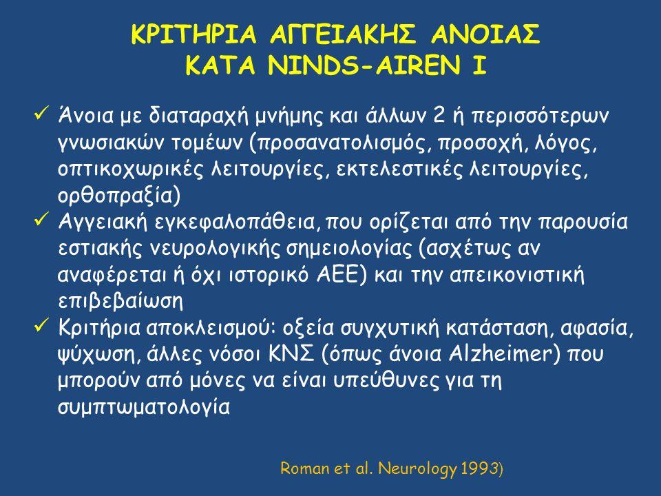 ΚΡΙΤΗΡΙΑ ΑΓΓΕΙΑΚΗΣ ΑΝΟΙΑΣ