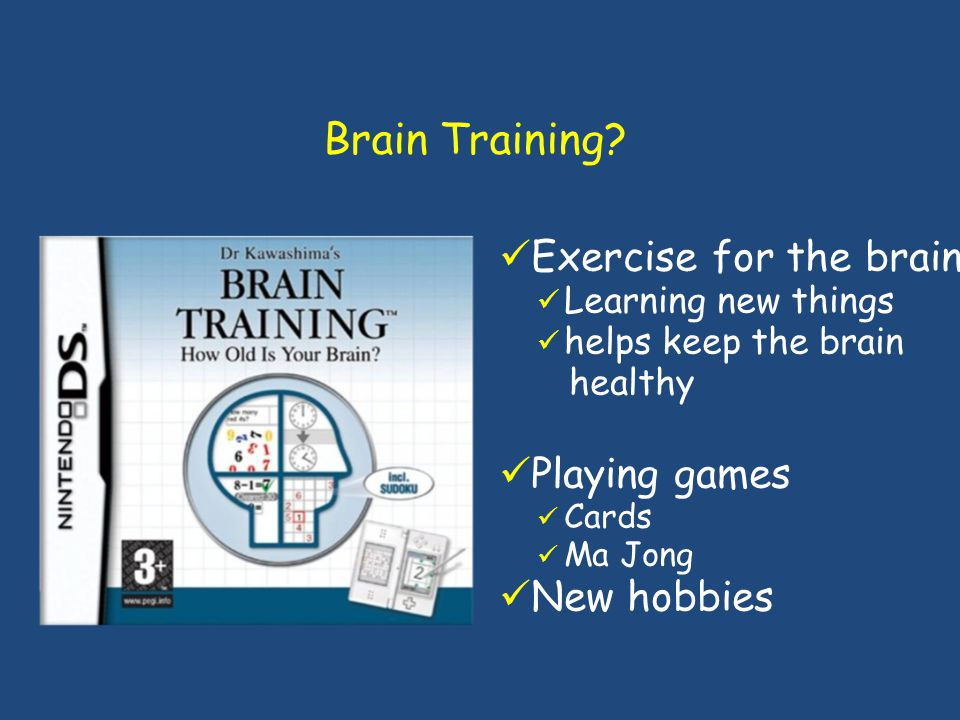 Brain Training Exercise for the brain Playing games New hobbies