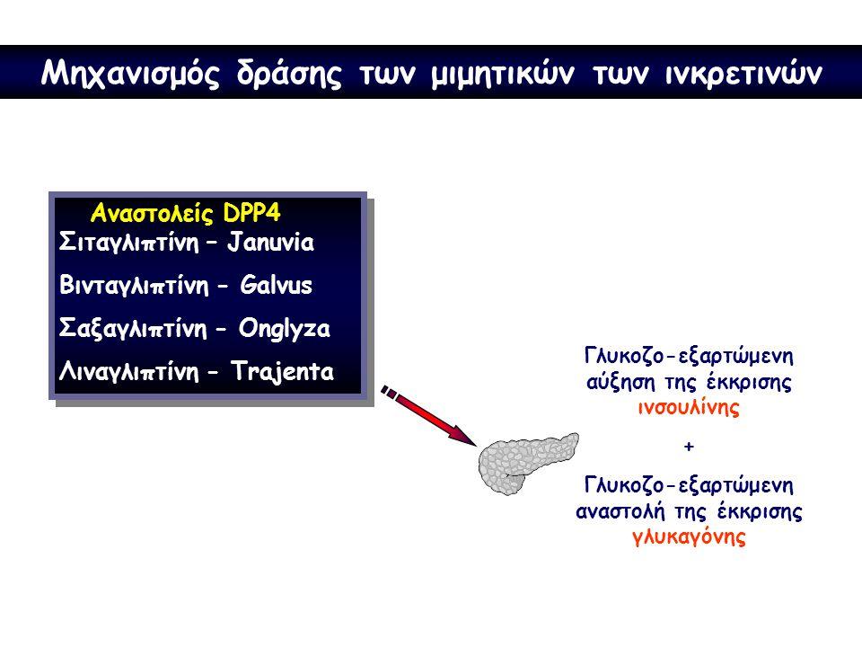 Μηχανισμός δράσης των μιμητικών των ινκρετινών