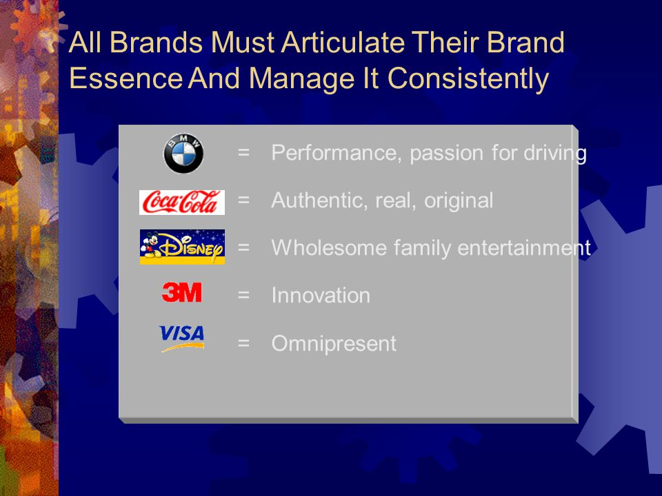 All Brands Must Articulate Their Brand Essence And Manage It Consistently