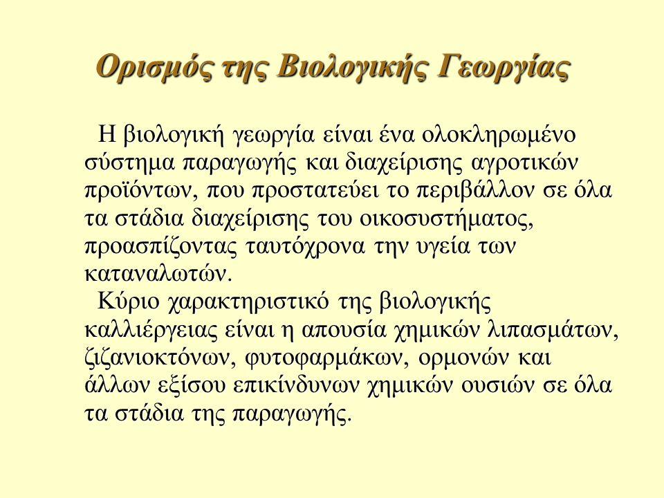 Ορισμός της Βιολογικής Γεωργίας