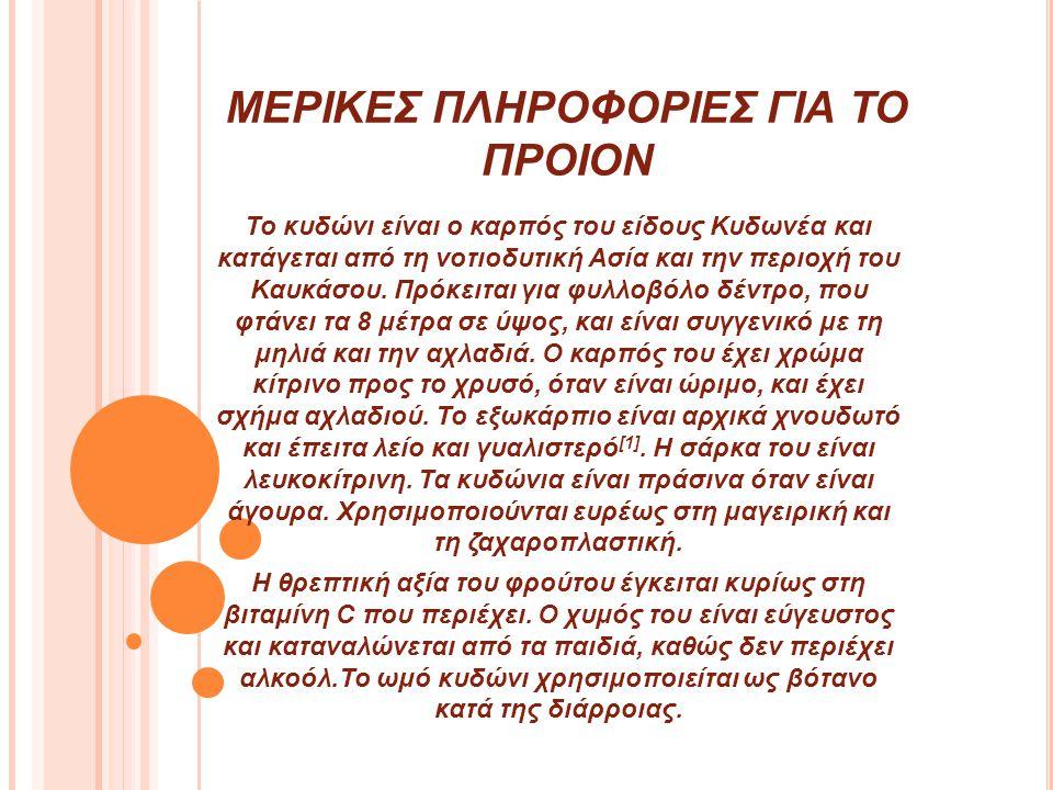 ΜΕΡΙΚΕΣ ΠΛΗΡΟΦΟΡΙΕΣ ΓΙΑ ΤΟ ΠΡΟΙΟΝ