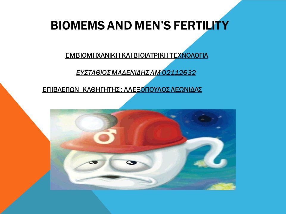BIOMEMS AND MEN'S FERTILITY