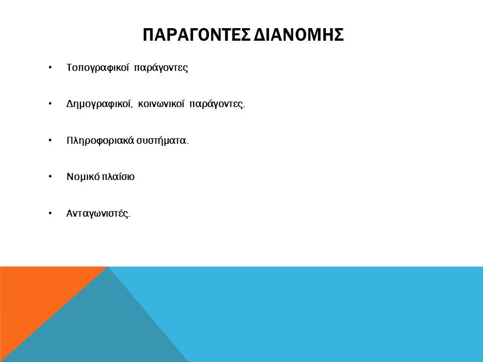 Παραγοντες διανομης Τοπογραφικοί παράγοντες