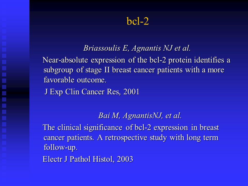 Briassoulis E, Agnantis NJ et al.