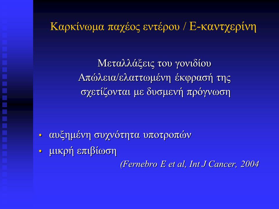 Καρκίνωμα παχέος εντέρου / E-καντχερίνη