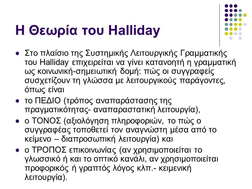 Η Θεωρία του Halliday