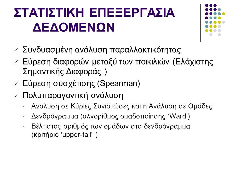 ΣΤΑΤΙΣΤΙΚΗ ΕΠΕΞΕΡΓΑΣΙΑ ΔΕΔΟΜΕΝΩΝ