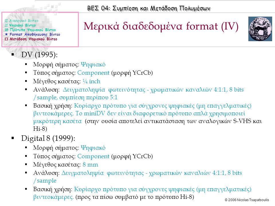 Μερικά διαδεδομένα format (ΙV)