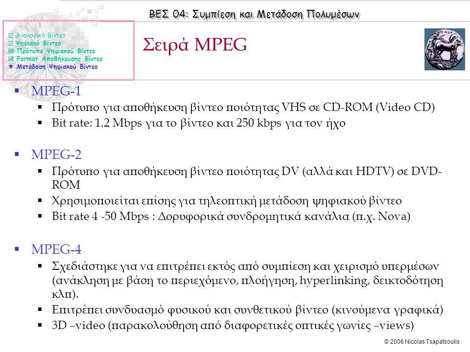 Σειρά MPEG MPEG-1 MPEG-2 MPEG-4