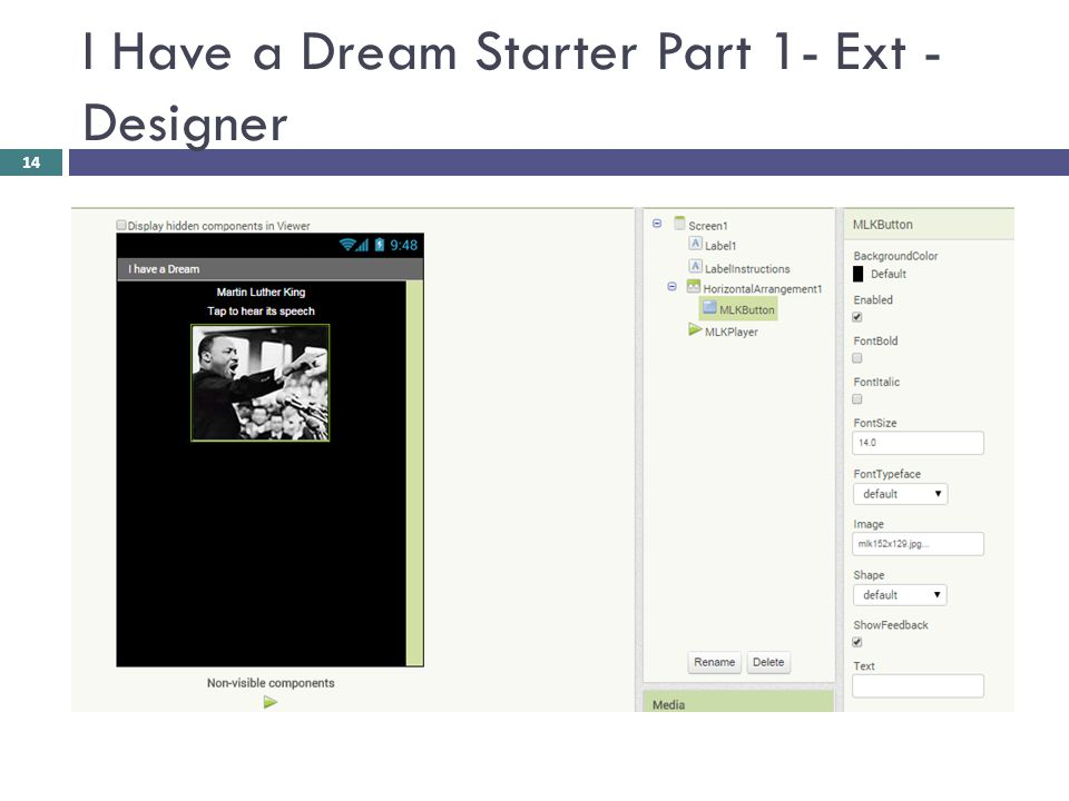 I Have a Dream Starter Part 1- Ext - Designer