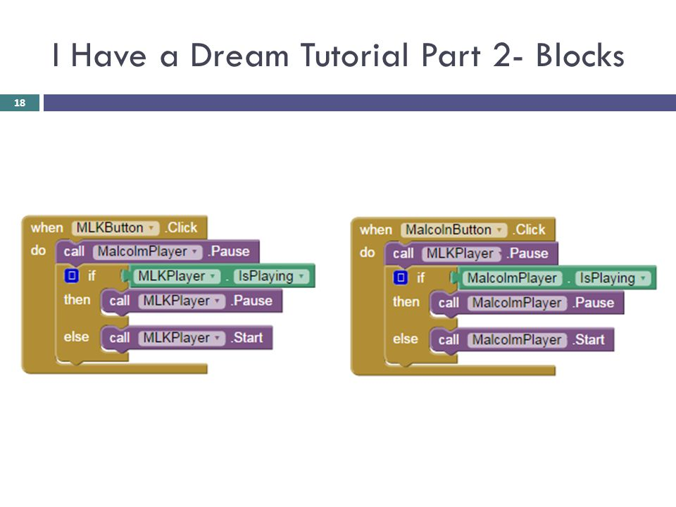 I Have a Dream Tutorial Part 2- Blocks