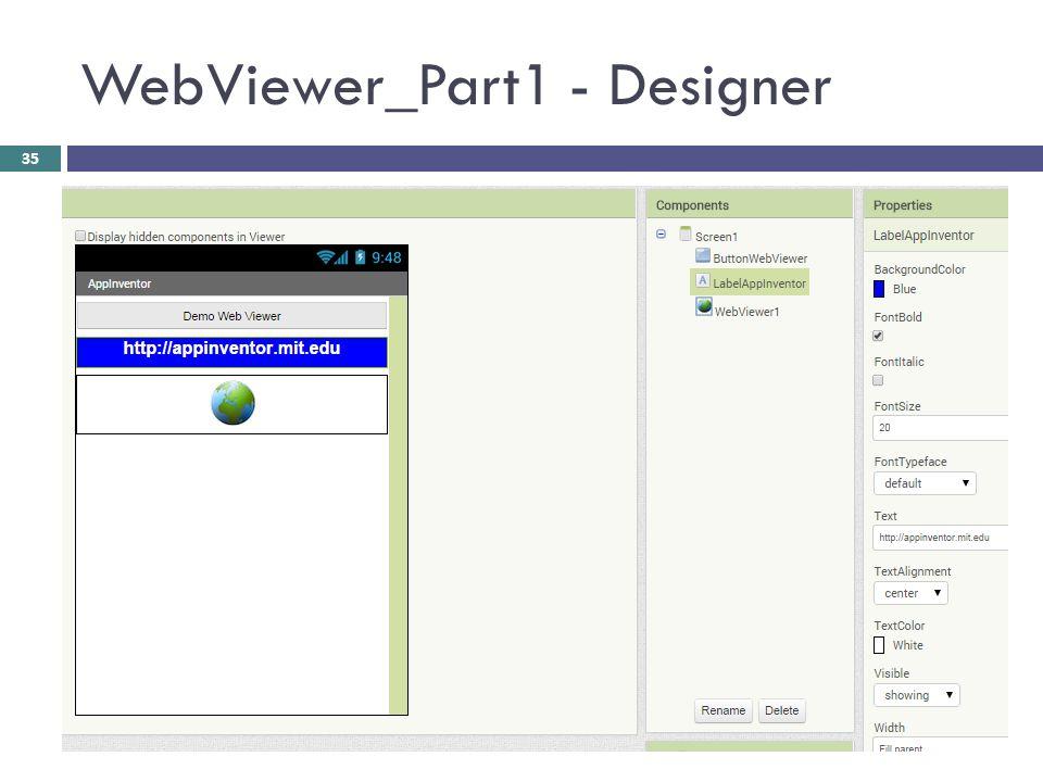 WebViewer_Part1 - Designer