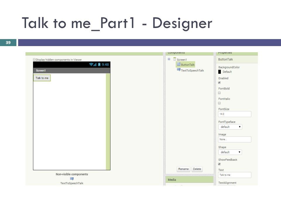 Talk to me_Part1 - Designer