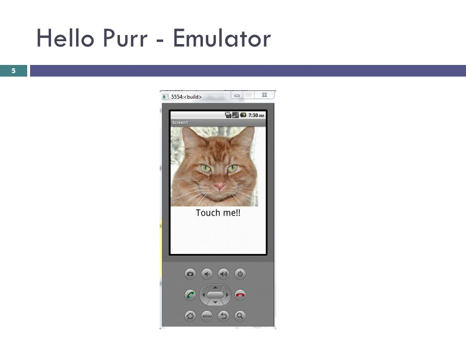 Hello Purr - Emulator