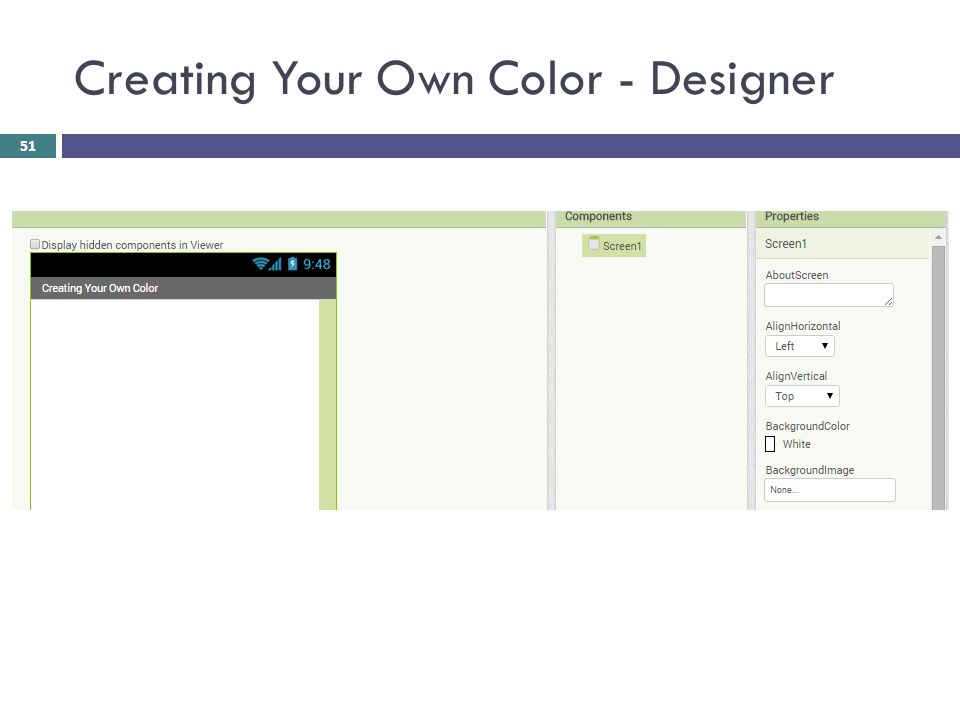 Creating Your Own Color - Designer