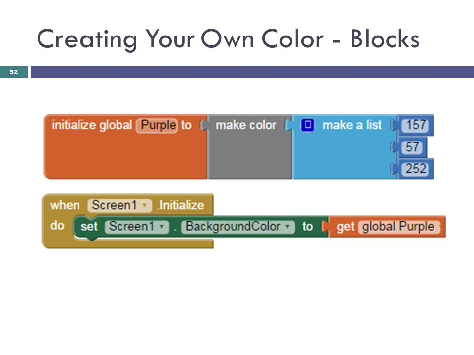 Creating Your Own Color - Blocks