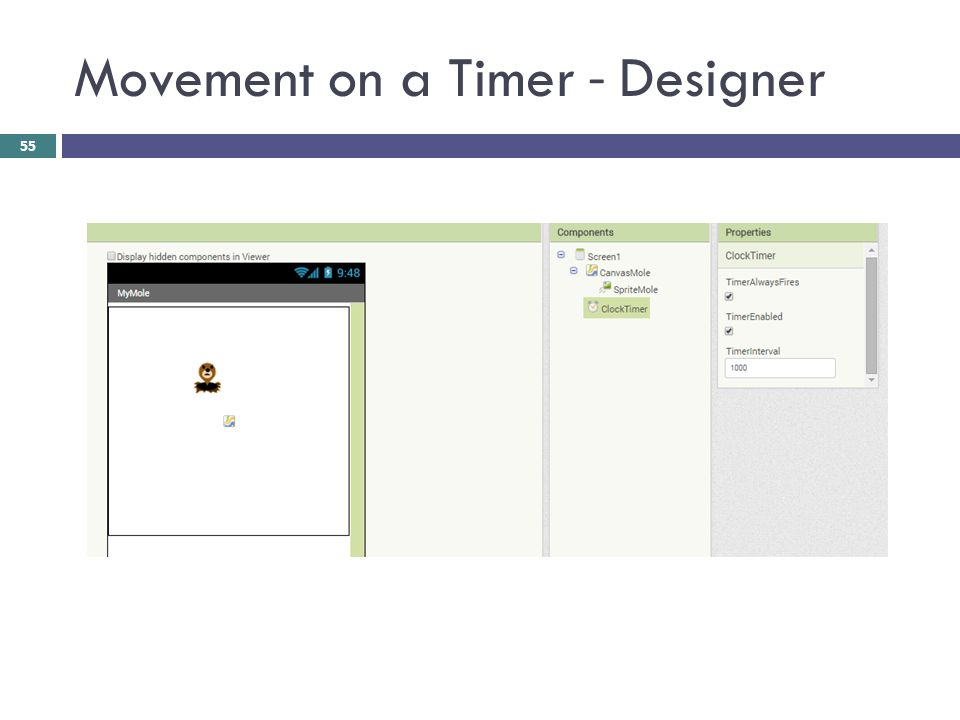Movement on a Timer - Designer