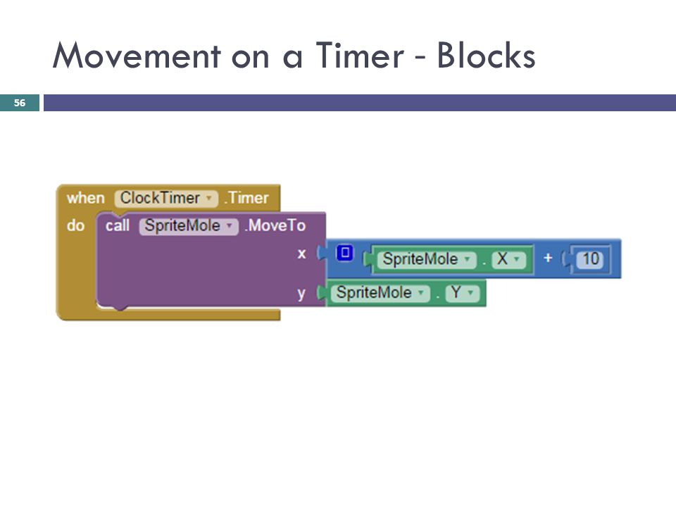Movement on a Timer - Blocks