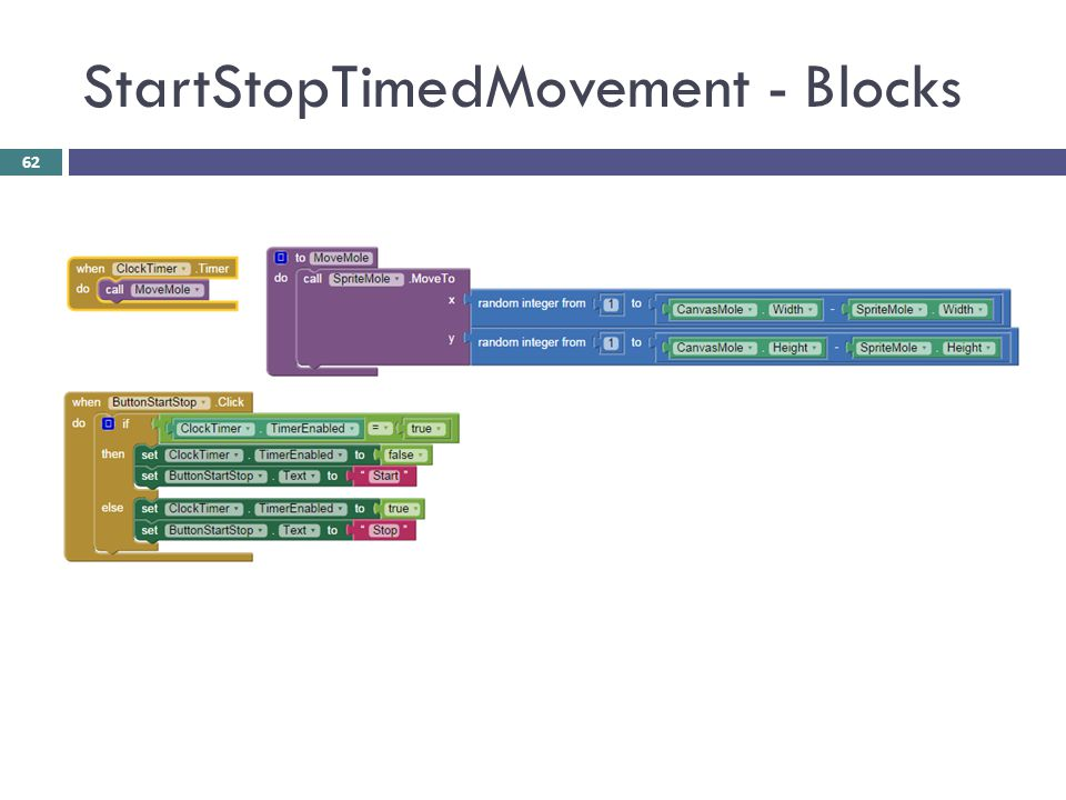 StartStopTimedMovement - Blocks
