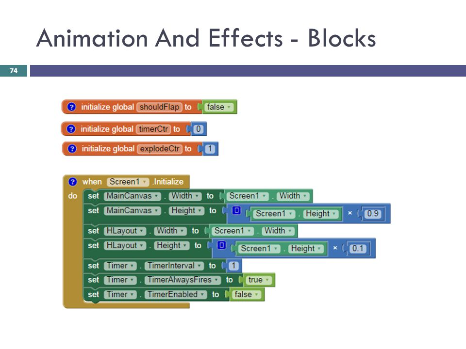 Animation And Effects - Blocks