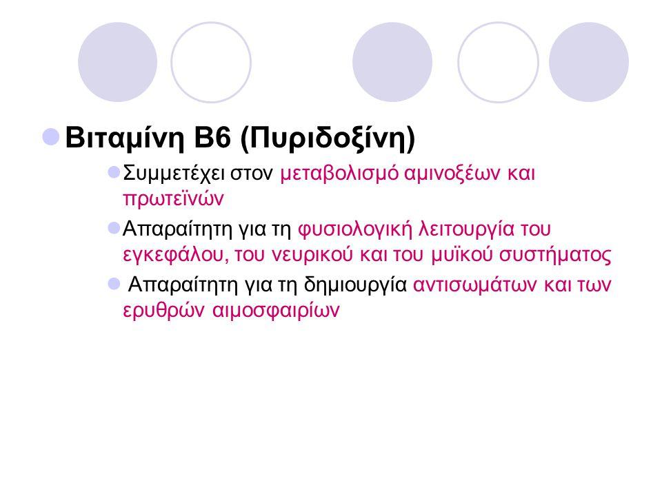 Βιταμίνη Β6 (Πυριδοξίνη)