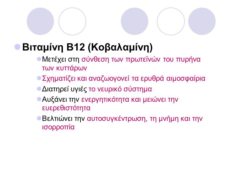 Βιταμίνη Β12 (Κοβαλαμίνη)