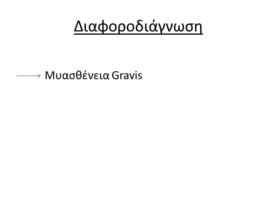 Διαφοροδιάγνωση Μυασθένεια Gravis