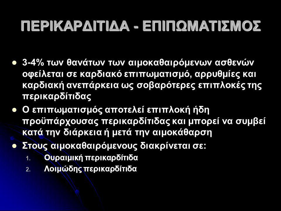 ΠΕΡΙΚΑΡΔΙΤΙΔΑ - ΕΠΙΠΩΜΑΤΙΣΜΟΣ