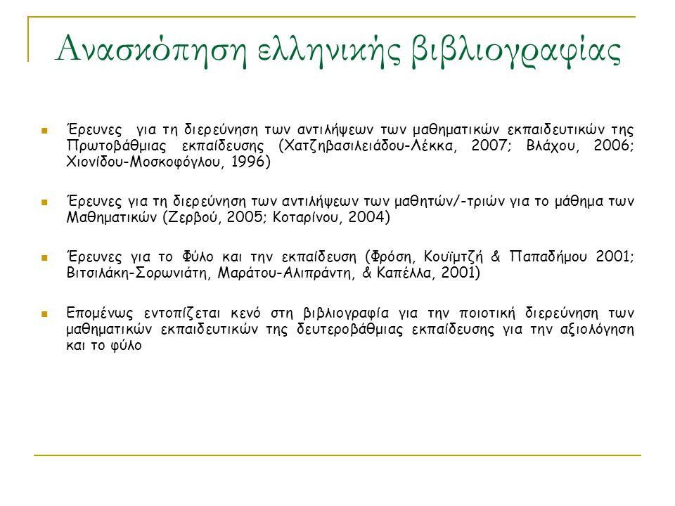 Ανασκόπηση ελληνικής βιβλιογραφίας