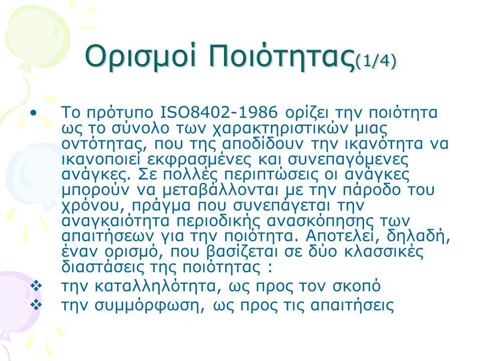 Ορισμοί Ποιότητας(1/4)