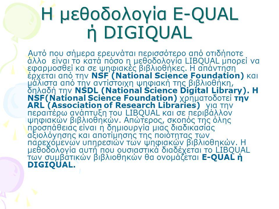 Η μεθοδολογία E-QUAL ή DIGIQUAL