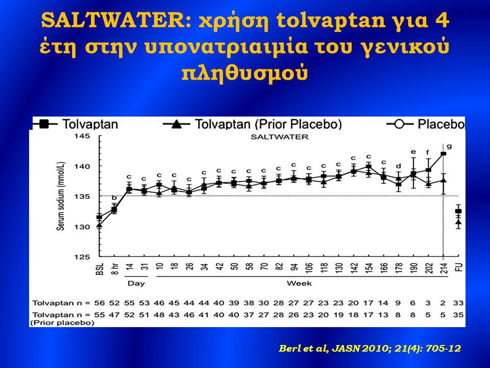 SALTWATER: χρήση tolvaptan για 4 έτη στην υπονατριαιμία του γενικού πληθυσμού