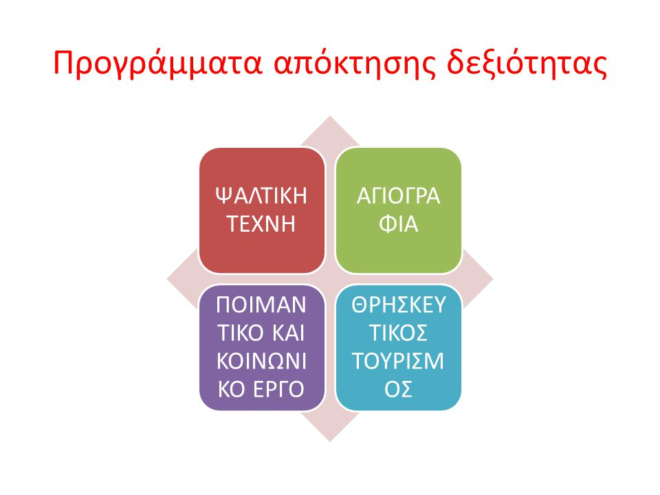 Προγράμματα απόκτησης δεξιότητας