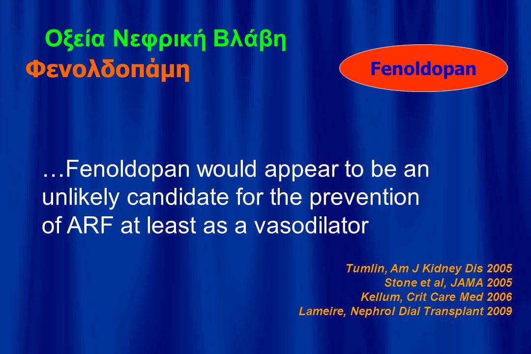 Οξεία Νεφρική Βλάβη Φενολδοπάμη
