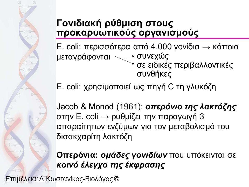 Γονιδιακή ρύθμιση στους προκαρυωτικούς οργανισμούς